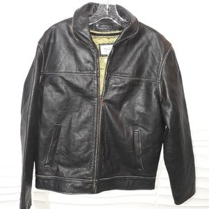 Wilsons Leather Brown Distressed Insulated Jacket
